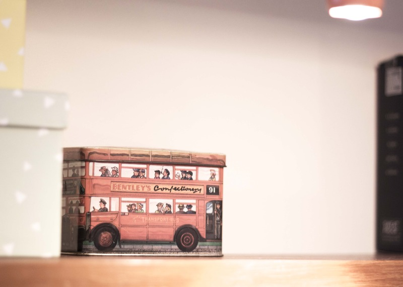 Shelf detail - london bus box