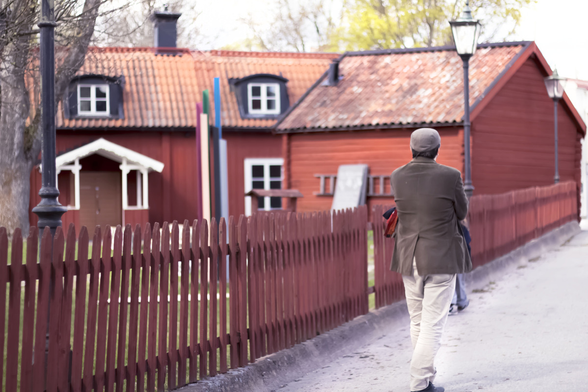 Exploring quaint little houses in Sigtuna