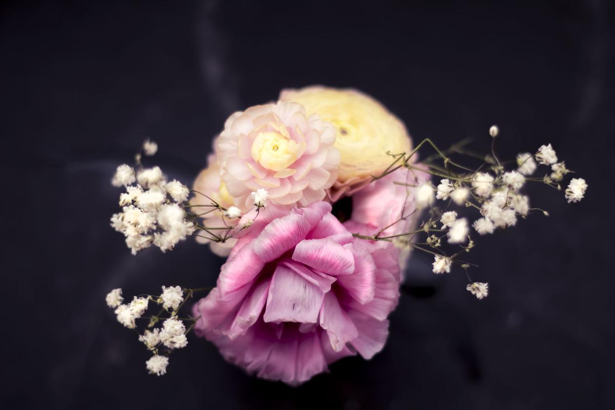 Little flower arrangement on a table