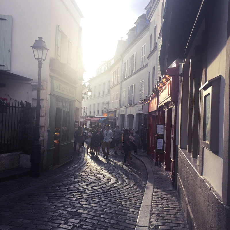 sunlight on a Paris street