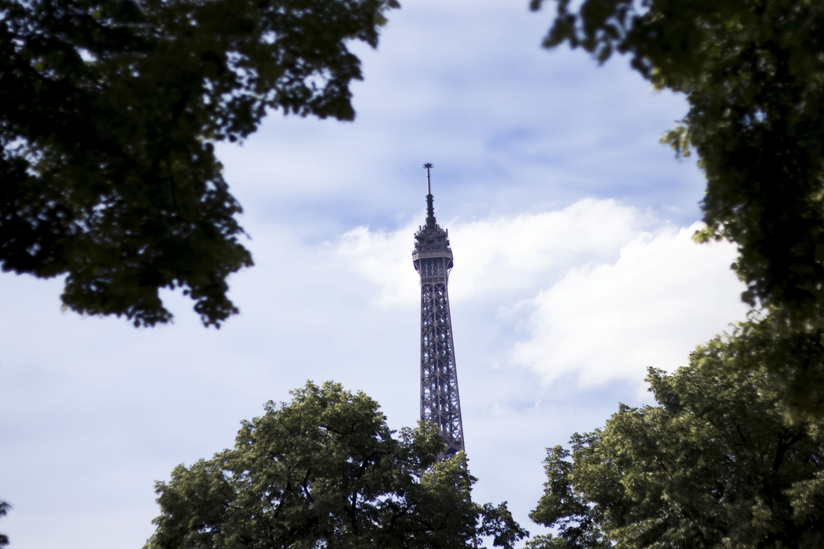 The Eiffel Tower from afar