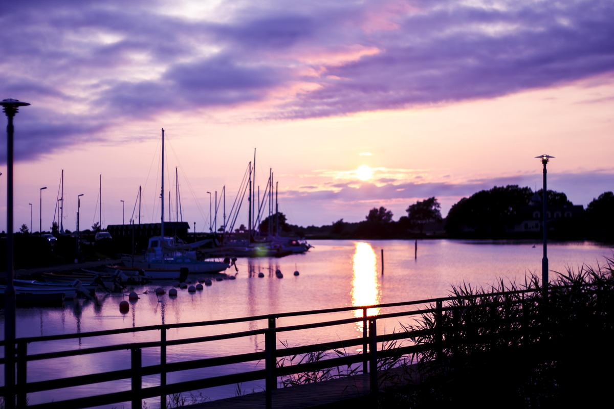 Sunset at Klintehamn, Gotland