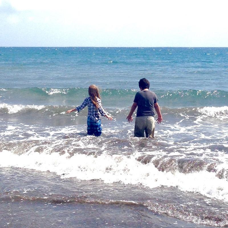Jonathan and Jacob by the sea